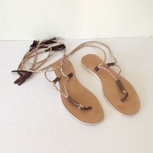 L*Space By Coco Bell Lace Up Sandals 9